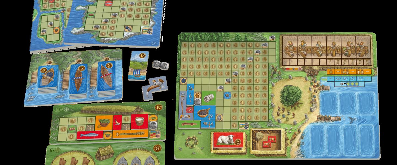 Un plateau de jeu (à droite) et des annexes
