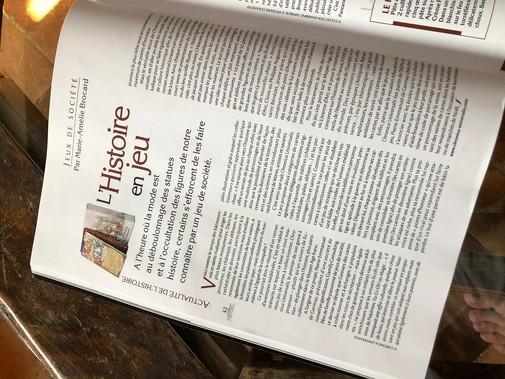 Ca c'est un article sur le jeu dans le numéro 51 du Figaro Histoire