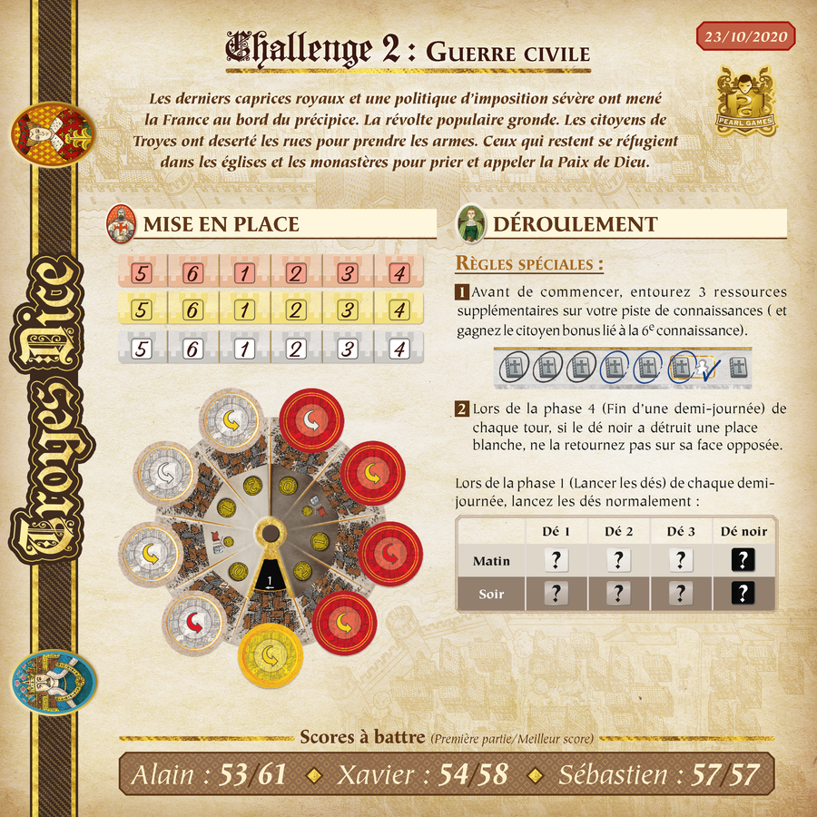 Troyes Dice - Les Challenges !