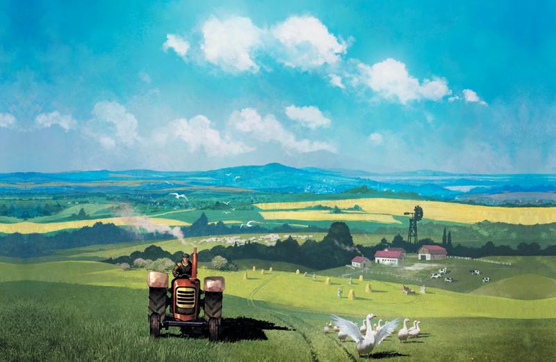 Le Temps des Moissons : élevé aux champs du coq