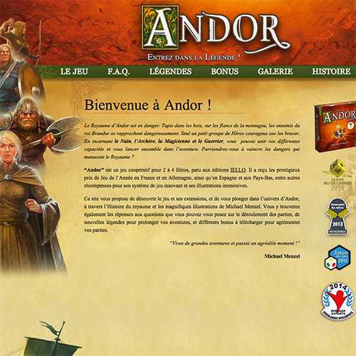 Andor : La légende est en ligne !