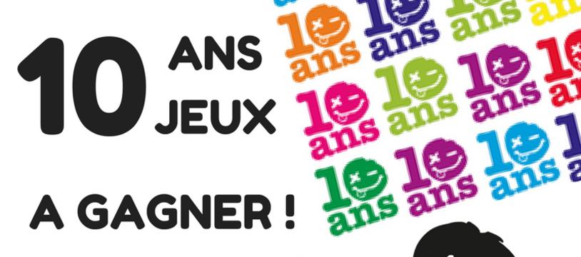 Concours : 10 ANS - 10 JEUX A GAGNER !