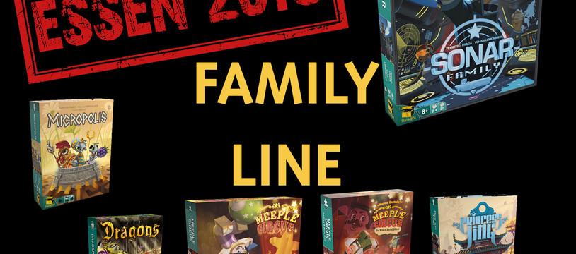 Matagot : la gamme Family à Essen : Family line in Essen (version multilingue)