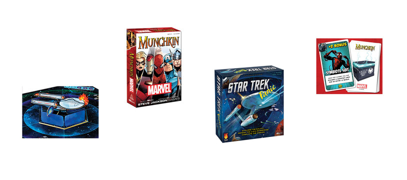 Munchkin panique et Star Trek, marre, vêle !