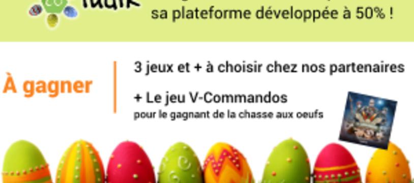 Pâques chez Coludik, des oeufs, un concours
