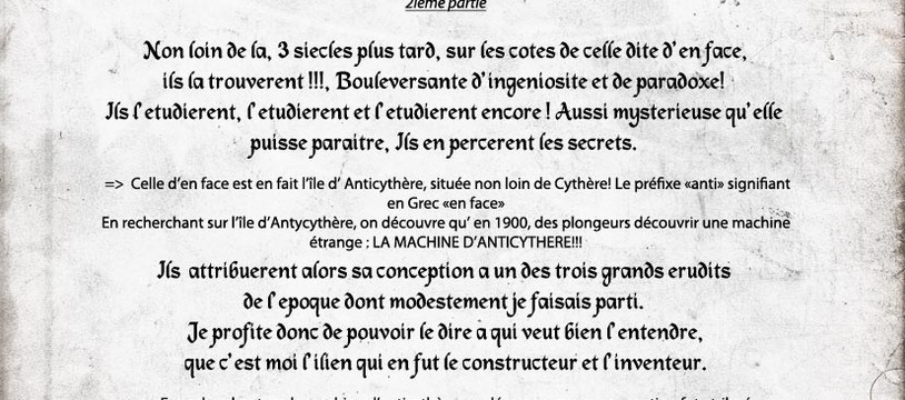 ARCHAEOLOGIA ENIGME n°2 SOLUCE