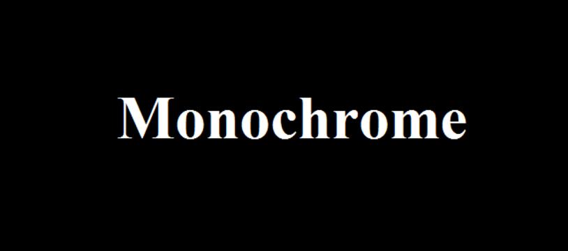 Le jeu gratuit de la semaine :  Monochrome