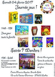 Journée jeux et soirée Tournois 7 Wonders