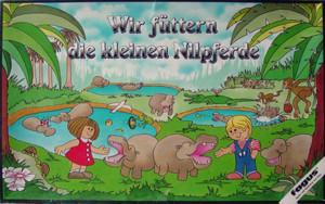 Wir füttern die kleinen Nilpferde