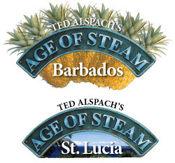 Age of Steam Expansion : Barbados / St. Lucia