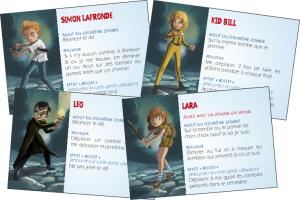Zombie Kidz : cartes personnages