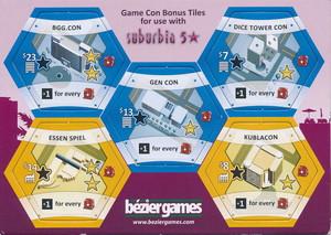 "Suburbia - Extension ""Suburbia 5 Stars"" - Extension ""Game Con Bonus Tiles"""