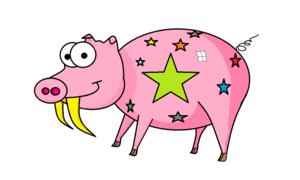 Le cochon à dents de sabre