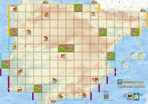 "Carcassonne - Extension ""Carte Péninsule Ibérique / Map Peninsula Iberica"""