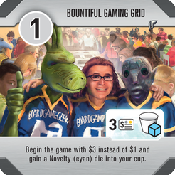 Roll for the Galaxy - Tuile bonus Bountiful Gaming Grid