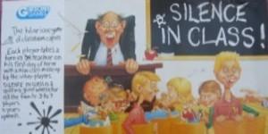 Silence in class !