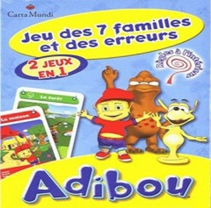 Adibou jeu des 7 familles et des erreurs