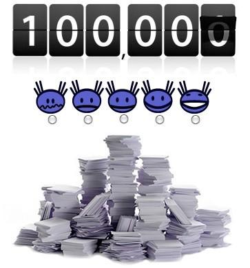 C'est énormissime : 100000 !