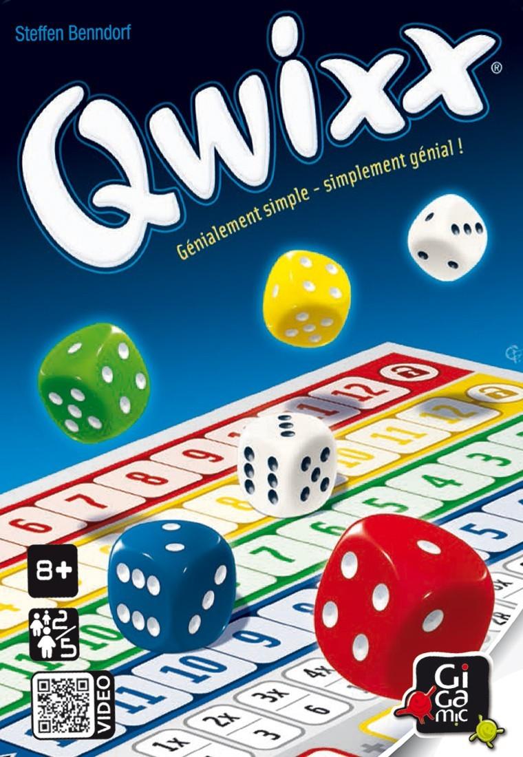 Qwixx en français chez Gigamic